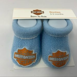 Harley-Davidson Born to Ride Booties. Size 0-3.